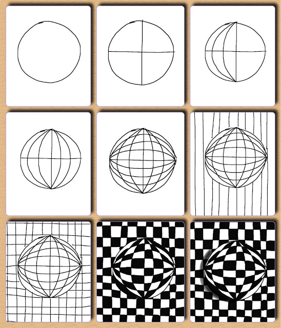 Art Worksheets Handouts Visual Arts at AAE with HL – Op Art Worksheet